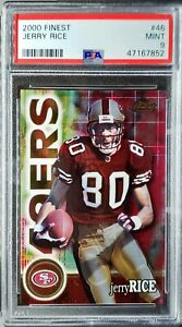 2000 Topps Finest Jerry Rice PSA 9 Mint HOF, All-Time Great!!