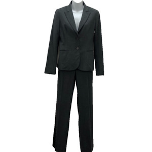 Theory Women's Size 4 Charcoal Gray Wool Menswear Inspired Business Pants Suit