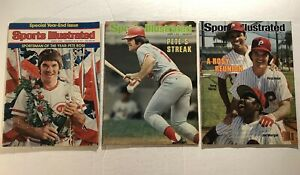 1975 Sports Illustrated CINCINNATI Reds PETE ROSE Lot HIT KING #4256 No Labels