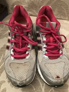 WELL WORN ADIDAS RUN SMART TRAINERS Size 5.5 (38.5) PINK WHITE Training Shoes