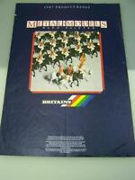 Britains soldiers farm equipment 1987 Trade Catalogue hand painted models   1966