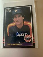 Autographed 1985 Donruss Joe Sambito Astros 572 Auto Signed In Person