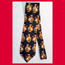Unworn 1990s GARFIELD THE CAT Men's Neck Tie STILL EATING Jim Davis NOS kitten