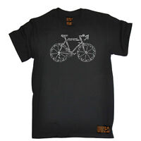 Cycling T-Shirt Funny Novelty Mens tee TShirt - Bike Part Words