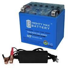 Mighty Max Ytx14-Bs 12V 12Ah Gel Battery for Kawasaki Zx-14 + 12V 2Amp Charger