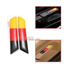 2PCS Seat Lift Wrench Slot Insert Trim With Germany Flag For VW GOLF MK6 R GTI