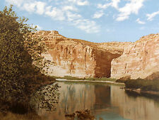 "Paula Crane ""Echo"" Hand Signed & Numbered Art Serigraph river canyon southwest"