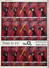 This Is It! Uncut 2009 Lenticular Concert Ticket Sheet Form 4,4A Michael Jackson