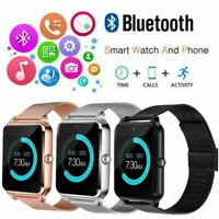 New Z60 Bluetooth Smart Watch GSM SIM Phone Mate Stainless Steel For IOS Android