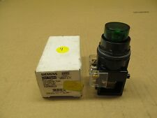 1 NIB SIEMENS 52PE4G3 SER G PILOT LIGHT TRANSFORMER TYPE 120VAC GREEN LED