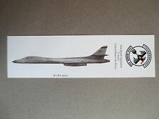 BOOKMARK B-1B LANCER 34th Bomb Squadron T Birds USAF U S Air Force
