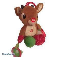 🔴 Rudolph BABY'S 1ST CHRISTMAS MUSICAL LIGHT-UP ACTIVITY TEETHER RUDOLPH E2