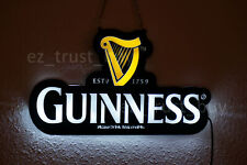 "New Guinness Harp Beer Led 2D Neon Sign 14"" Light Lamp Bar Vivid Bright Decor"