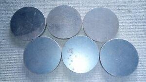 6x 75mm x 8mm Plasma Cut Discs. NON-PRIME Mild Steel  Fabrication Welding