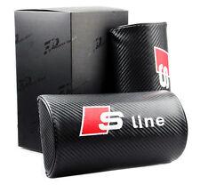 2pcs Carbon Fiber Car Rest Cushion Seat Headrest Neck Pillow For Audi S RS Sline