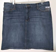 Tommy Hilfiger NEW Denim Jean Skirt Straight Pencil Stretch Ladies Size 10