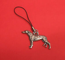 Greyhound Dog Pewter Mobile Phone USB Stick Charm Dad Mum Greyhound Gift