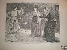 Battledore and shuttlecock 1871 print