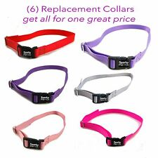 """3/4"""" SOLID Girl Dog Colors Receiver Replacement Straps- Set of 6 Wireless Straps"""