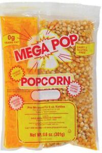 8oz Popcorn Kit - Case of 10 Popcorn Kits (Individual Popcorn Packs)