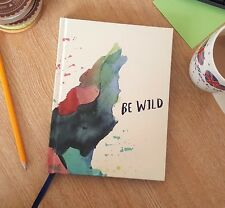 Motivational Journal Compendium 'Be Wild' Diary A5 Hardback Notebook Gift