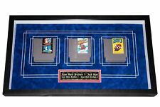 Custom framed SUPER MARIO 1, 2, 3, & DUCK HUNT NES NINTENDO GAMES One of a kind!
