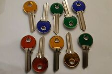 10 X UL051-C Colored  Key Blanks Silca to Suit Universal