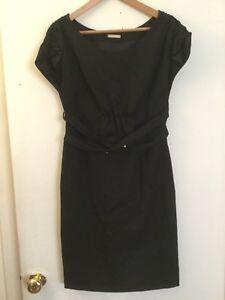 Loeffler Randall Black 100% Silk Shift Dress, Size 8