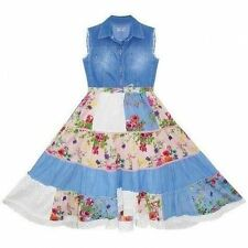 Abbigliamento Denim in estate per bambine dai 2 ai 16 anni