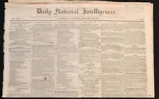 DAILY NATIONAL INTELLIGENCER - Civil War. Copy Presumably Owned By Gideon Welles