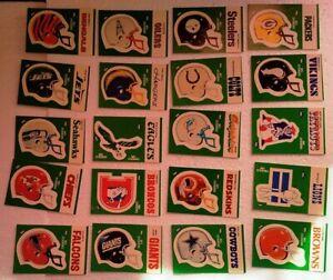 Vintage Rare NFL 1986 Double Bubble Razzles Football Helmet 20 Sticker Lot