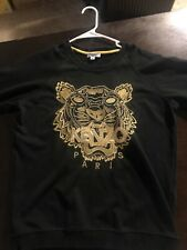 Kenzo Sweat Shirt Gold Tiger Embroidery Crew Size S