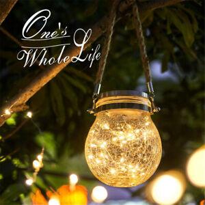 Glass LED Lights Solar Crack Bottle Light Hemp Rope Outdoor Waterproof Lamp