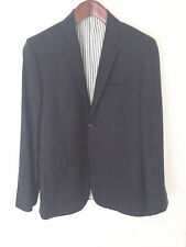 Thom Browne Jacket Flannel Wool Navy Windowpane Sz 3/42 *Mint**Rare* Made in USA
