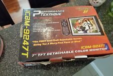 """NEW 7"""" TFT COLOR MONITOR DETACHABLE ICHM9247T PERFORMANCE TEKNIQUE ANTI THEFT"""
