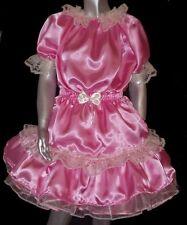Sissy Maid Baby Abito Rosa satin taglia L/XL