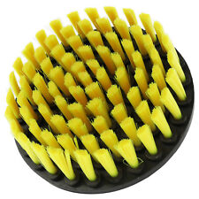 "5"" Round Light Duty Yellow Full Bristle Drill Brush"