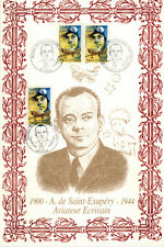 2000-Encart de Luxe sur Soie - A. De Saint.Exupery-800 Exemplaires-Yv.PA.3337
