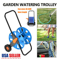 HOSE PIPE REEL HOLDER TROLLEY CART GARDEN WATER PORTABLE FREE STANDING STAND US