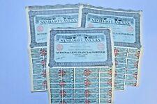 COMPAGNIE MINIERE DE SANTIAGO Y ANNEXAS 100 FRANCS PARIS 1928 X 80 ACTIONS