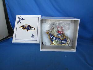 Baltimore Ravens Danbury Mint Santa Sleigh Ornament 2009 New in the Box