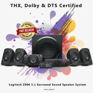 Logitech Z906 5.1 Surround Sound Speaker Home Cinema PC Computer System 1000W