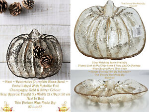 🍂 Next Pumpkin Decorative Trinket Fruit Bowl Dish Home Table Decor Ornament Vtg