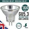 Dimmable Reflector GU5.3 MR16 50W MAINS 12V HALOGEN LIGHT BULB JOB LOT OF 144