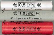Griechenland Rollen 1 Cent, 2 Cent + 5 Cent 2012