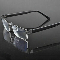 Half-frame Design Men&Women Metal Black Reading Glasses +1.00 to +2.50 New