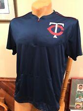 88e7dde7a SWEET Minnesota Twins Adult Sz Md SGA 1 4 Zip Warm Up Style Shirt