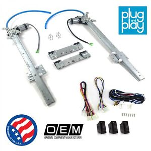 Jeep CJ DJ 1953 - 1986 Power Window Regulator Kit w/ 3 LED Switches 4.6l rwd