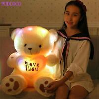 Teddy Bear Led Big Plush Toy Light Animal Colorful Stuffed Glowing Gift Kid 50cm