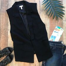 Leith Black Vest/Jacket Nordstrom Lined XS Oversized
